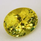 rare one color only lime green-yellow andalusite in natural untreated oval from brazil no pleochrois