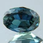 Gold greenish blue Tanzanian sapphire