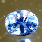 blue Oval Burma sapphire unheated and natural, free of inclusions
