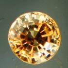 Shiny golden Ceylon sapphire