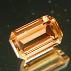 Golden orange octagon Mozambique tourmaline