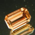 Golden orange octagon Mozambique tourmaline