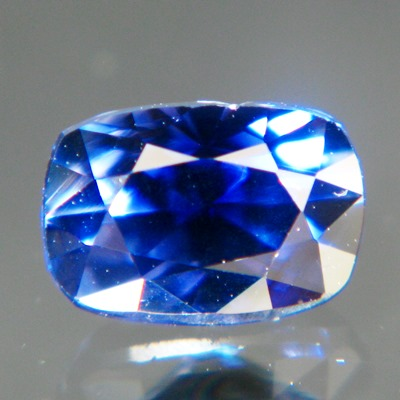 Kashmir blue Ceylon sapphire without inclusions or treatments