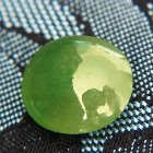 untreated green jade type A moss green oval cabochon double sided