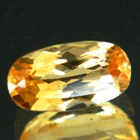 Shiny orange peach Imperial topaz