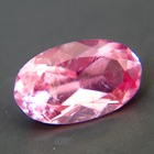 bright pink-orange tourmaline free of treatments