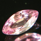 Mild rose pink African sapphire