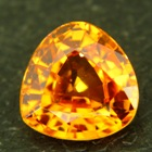 Neon orange Spessartite garnet