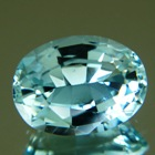 round brilliant untreated aquamarine beryl