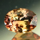 Honey colored sapphire