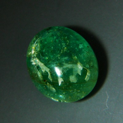 oil-only cabochon emerald from africa