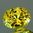 lime green garnet in natural untreated oval from west africa