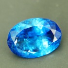 clean faceted blue euclase from zimbabwe in finest blue oval