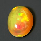 untreated all colored orange based welo fire opal