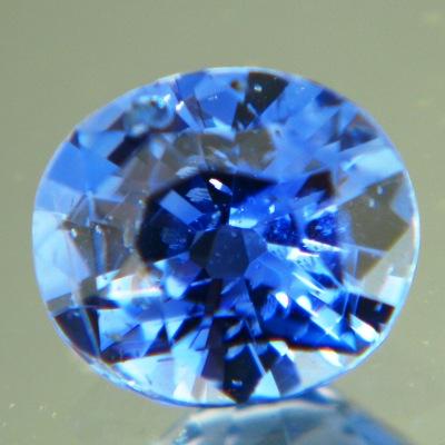 Sparkly cornflower blue Ceylon sapphire