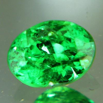 neon green garnets beating emerald