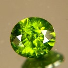 unheated grass-green zircon from Sri Lanka in oval precision cut