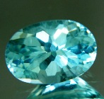 Indian Aquamarine in oval shape