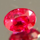 unheated pure red ruby from mozambique, no visible inclusions, unheated and natural, no window, lab