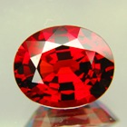 Deep orange red African spessartite