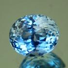 Sparkly sky blue Montana sapphire