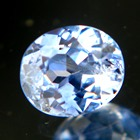 sky blue oval cut brilliant sapphire from Ceylon, unheated and natural, no window, IGI report
