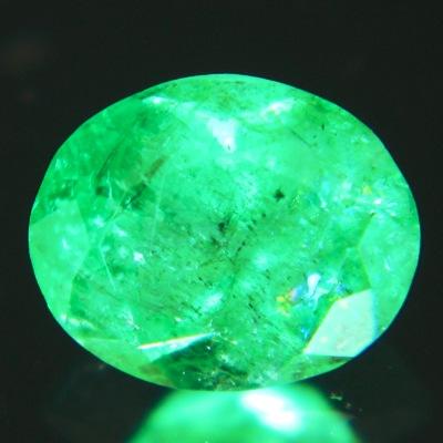 bluish open green emerald oval