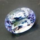 oval unheated petrol colored tanzanite natural for bespoke jewelry