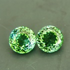 pair green tourmalines untreated all-natural