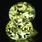 pair rich green chrysoberyls