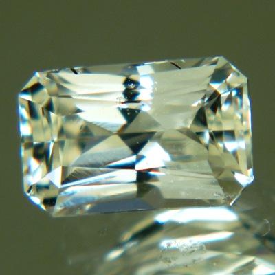 bright yellow Ceylon sapphire no heat