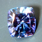 squarish cushion tanzanite unheated and natural in precision cut