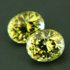 matching pair of certified untreated green garnets in highest quality