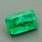 Sandawana oil-only emerald in emerald cut deep vivid green