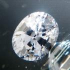 pear cut extra brilliant grey spinel from Burma, unheated and natural, no window, IGI report