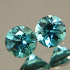matching pair round brilliant tourmalines in green blue aka indicolites for a pair of studs in rare