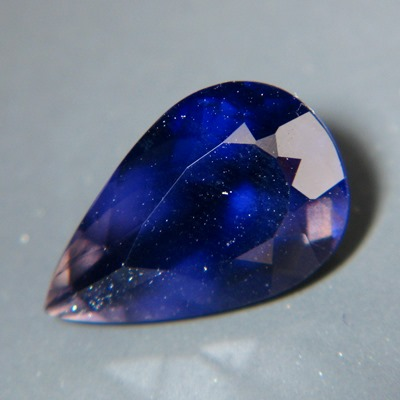 Iolite, free of treatments, deep violet gem, over three carat