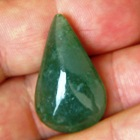 untreated deep pure green jade type A round pear drop