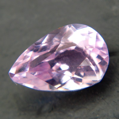 pink kunzite free of treatments, pear shaped, 1.77 carat, bargain