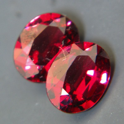 matching pair oval red garnets from old sri lanka rough for a pair of bespoke jewelry