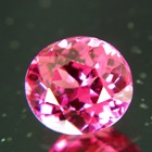 Deep reddish pink Tajik spinel