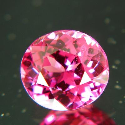 Deep reddish pink Tajik spinel