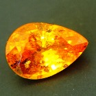 spessartine garnet in natural untreated pear shape
