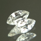 Pure white pair of African sapphire