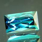 Deep green blue rectangular Mozambique indicolite