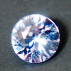 certified unheated IGI sapphire in 3mm round brilliant precision cut