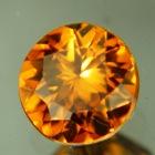 Deep ochre orange Ceylon zircon