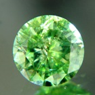 grass green green demantoid precision cut