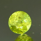 Crystalline green yellow African sphene