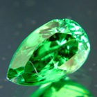 two carat tsavorite in 10mm long pear